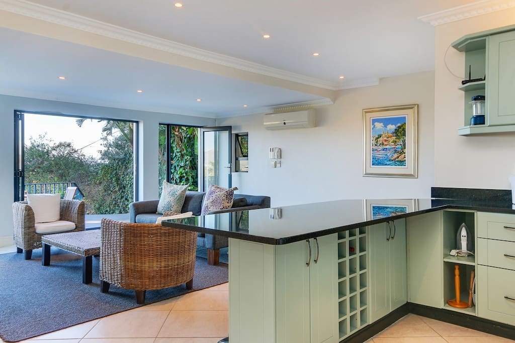 Kitchen / Lounge with sea views