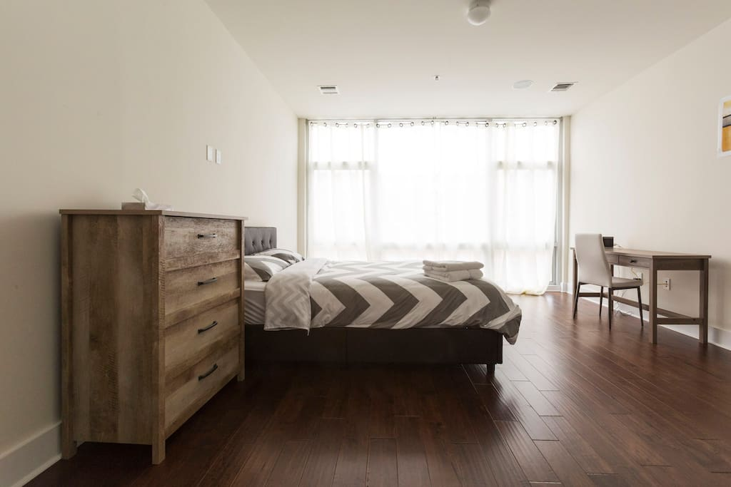 Huge and bright master bedroom