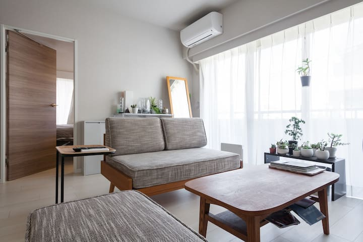 Homey and warm 2BD room condo, 20min to Shibuya! - Koyama Shinagawa-ku - Appartement