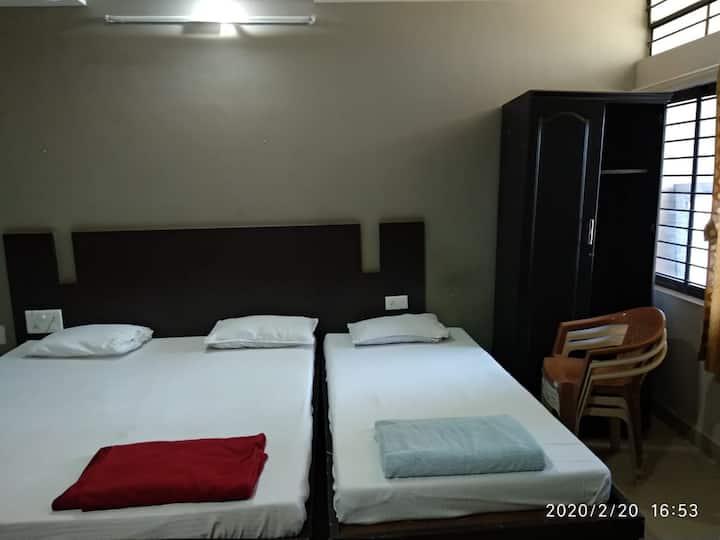 Manjunath Residency Triple Bed Non A/c Room, Gadag
