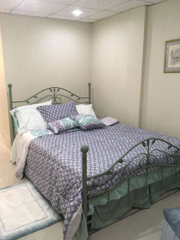 Comfortable bed with quality bedding