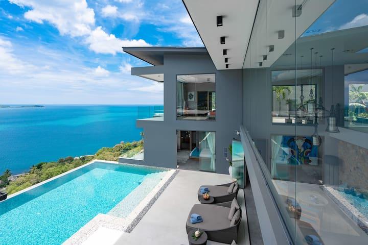 VILLA ELLA    TOP  Sea View - Pool - Privacy