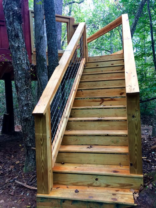 Staircase to the deck