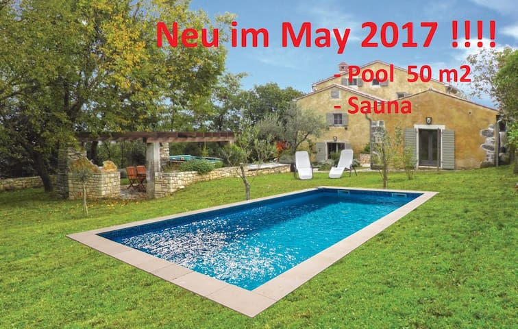 Villa Uljar - swimming pool, Sauna and Jacuzzi - Pićan - Hus