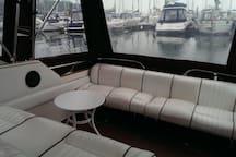 Comfortable sun deck