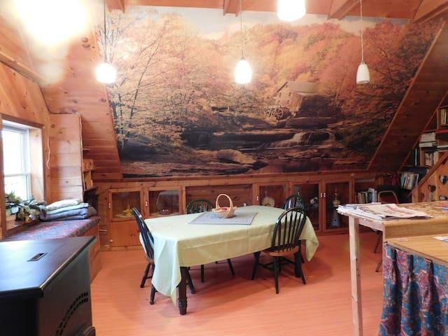 Farm Stay King Loft Suite near 11 Waterfalls Tour - Rumford - Wikt i opierunek