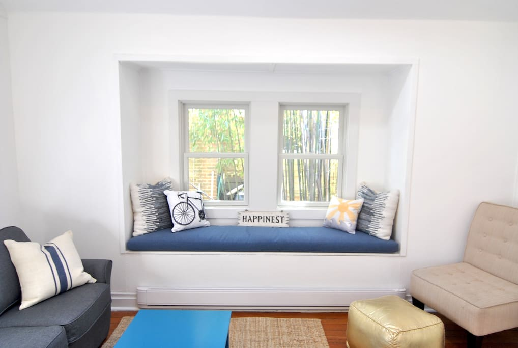 Gather with your family or curl up with a good book on the built in window seat.