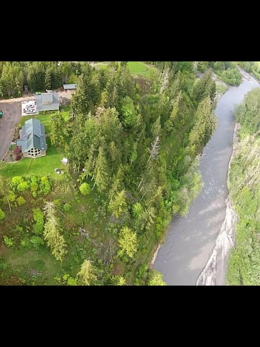 Arial view of the house & river
