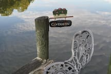 Relax on the dock and enjoy the  view of Sam's Cove.