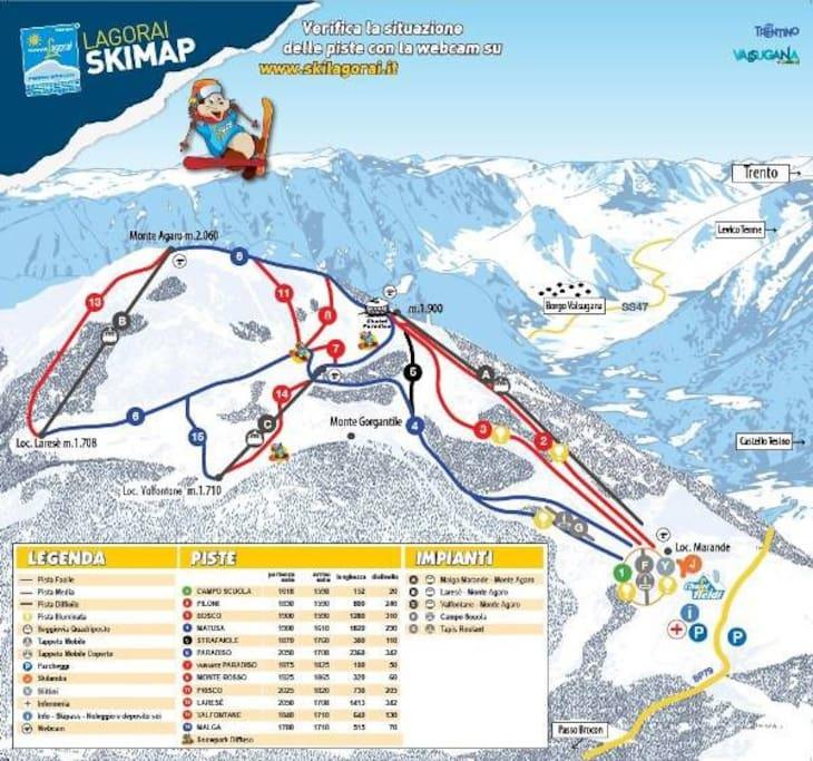E per gli amanti dello sci ricordiamo che il #masopino si trova a solo 20 minuti dalle meravigliose piste del Lagorai Brocon