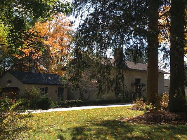 Historic Stone Cottage on Cazenovia Lake.