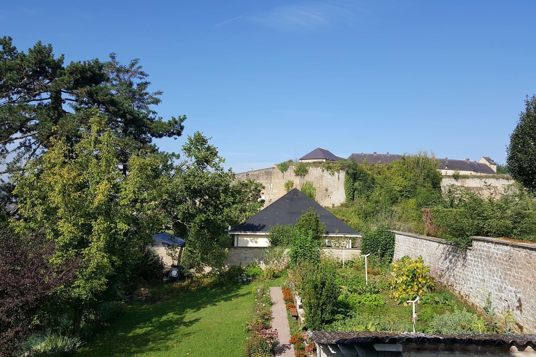 Le château fort de Sedan vu du balcon