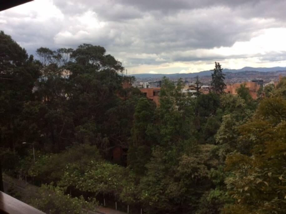 Hermosa vista sobre Bogotá