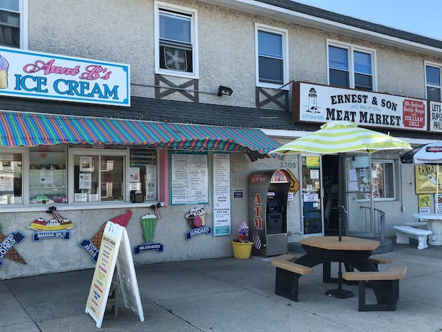 Aunt Bea's Ice Cream -Best on the Island! And  great Deli/Butcher -only 1/2 block away!