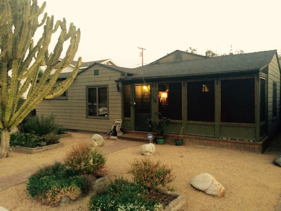 Here's the front of the house.  A 20 year old saguaro cactus shall be your beacon to the house.