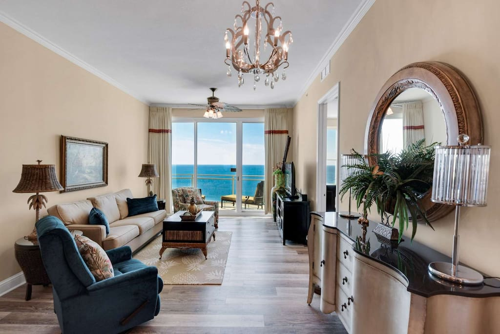 Relax in this comfortable living area and enjoy the view!