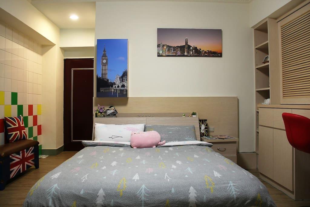 這裡有舒適的床 ,柔軟的枕頭, 溫暖的棉被, 在Mandy旅宿空間裡給您家的溫馨與舒適~