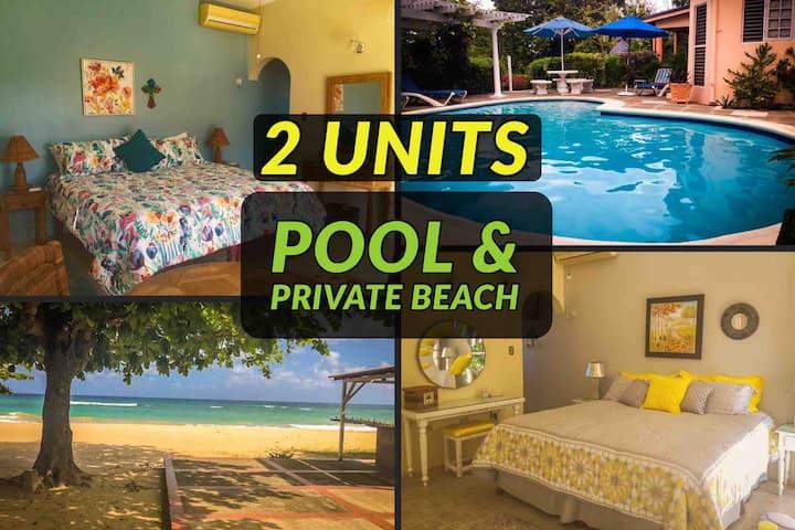🏝2 Individual Suites★Pool, Golf, Private Beach🏝