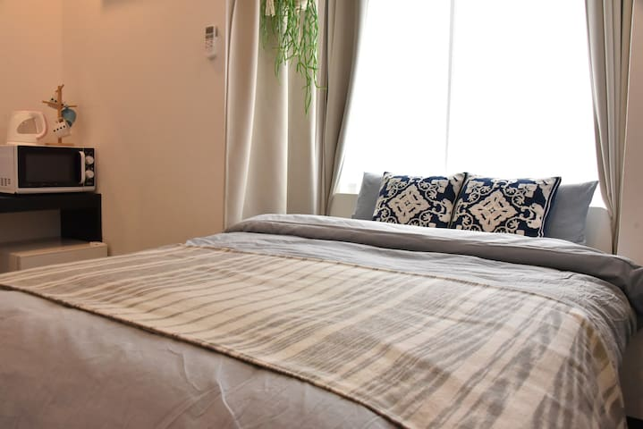 Cozy Apt+10min walk to Downtown Osaka/Umeda#LAOS1