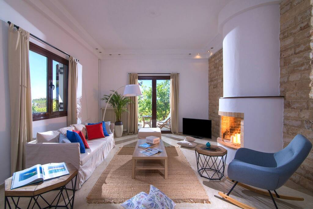 Your Cozy living room with fireplace - Welcome Home!