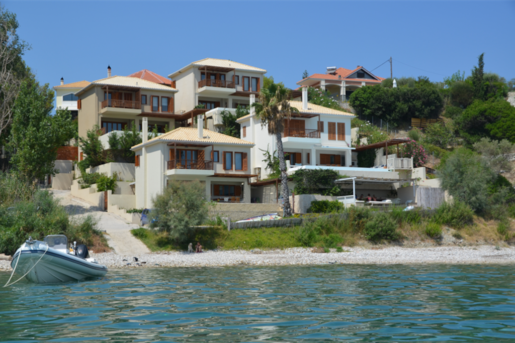 Villa Kalamos is part of Infinity Blue Villas and is the top left.