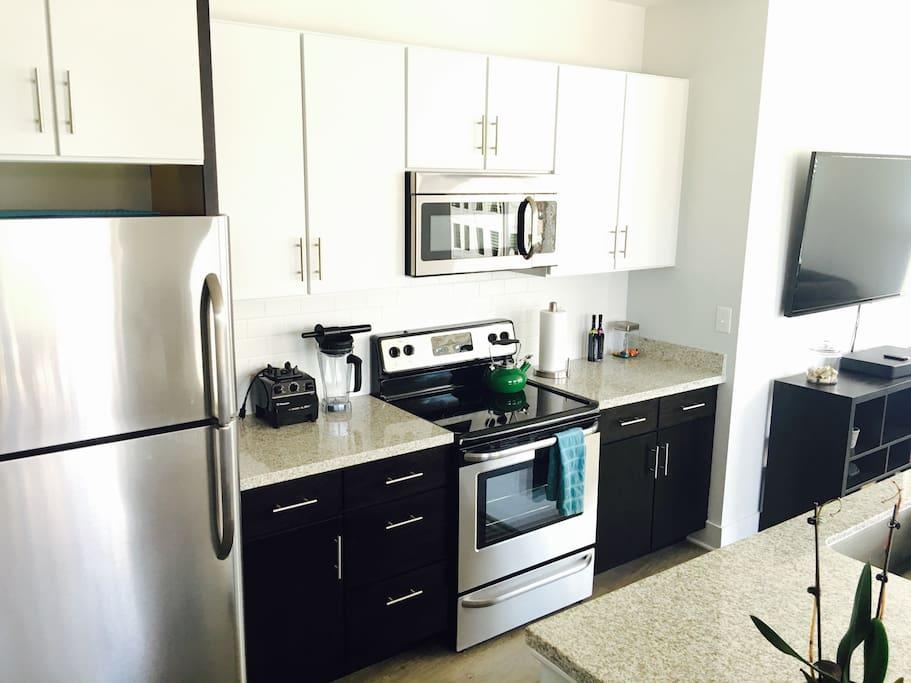 Modern and clean kitchen.