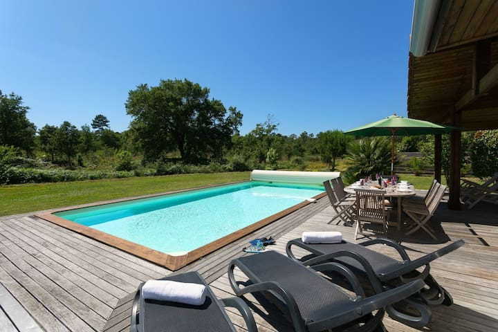 Piscine privée | Villa charmante près du Club de golf de Moliets