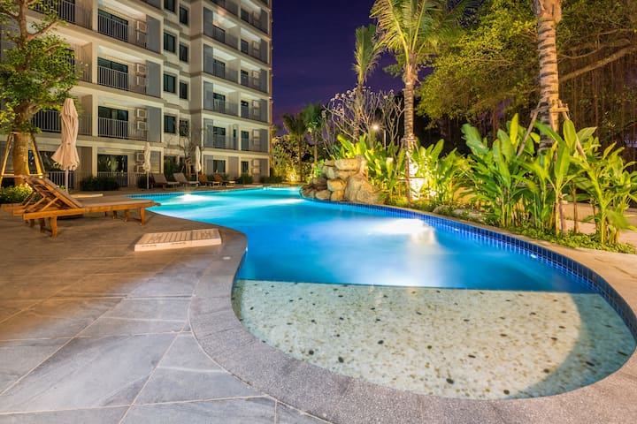 Nature View 1Bedroom Apartment@Nai Yang beach–250m