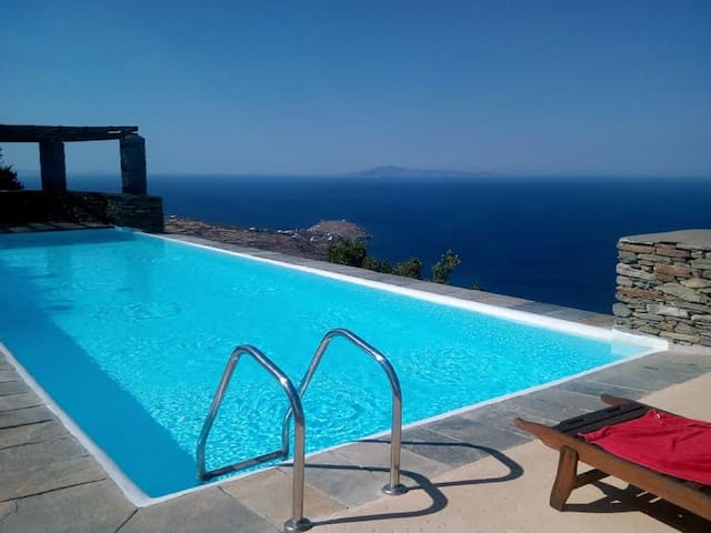 ANDROS Aprovatou/BATSI View HOUSE+Pool Guests 4/5