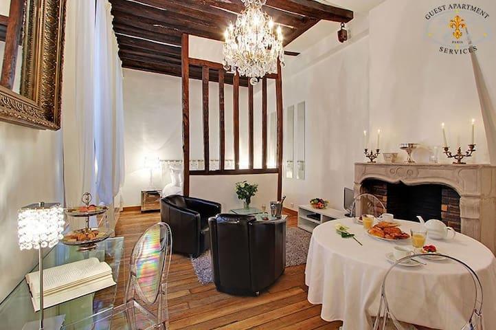 Romantic studio on Ile Saint Louis - Paris - Leilighet