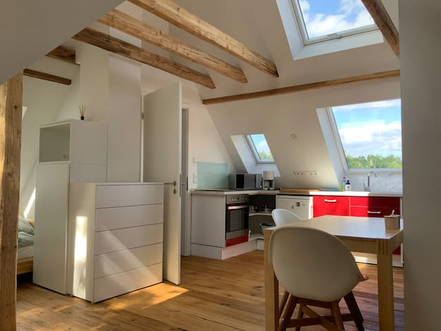 1 room apartment between Düsseldorf and Cologne