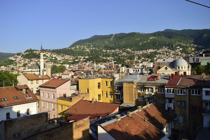 In the heart of Sarajevo with breathtaking view