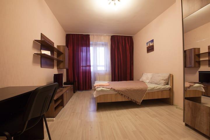 "Уютная комната ""вишня""/comfortable flat"