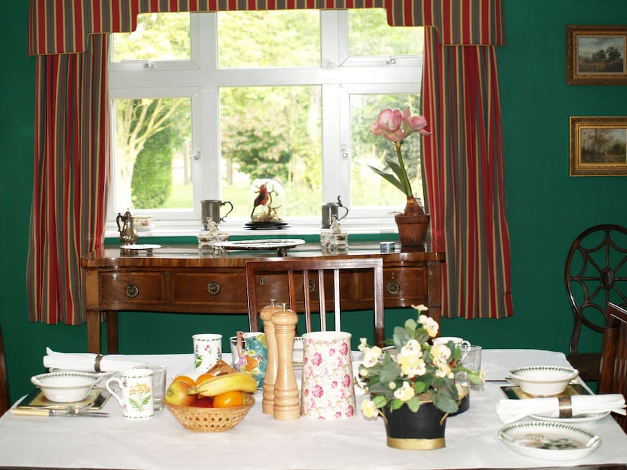 Breakfast in the dining-room