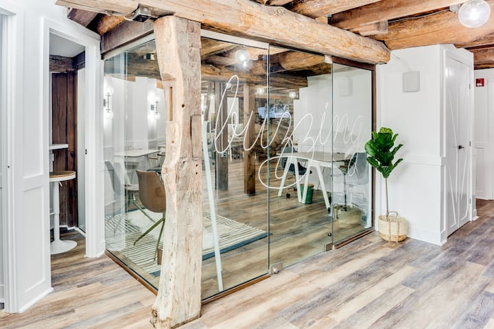 Below the studio, you will find the most unique co-working environment around.