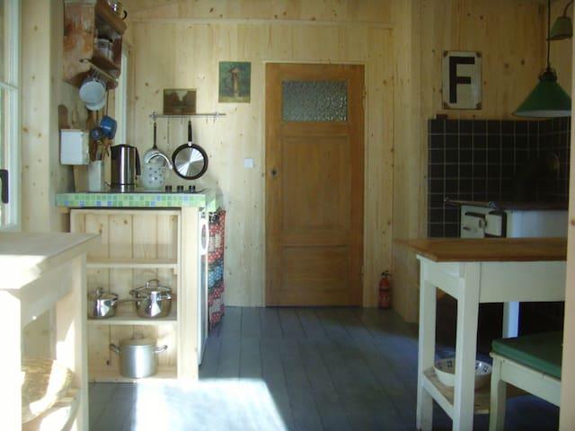 Blick auf die Badezimmertür