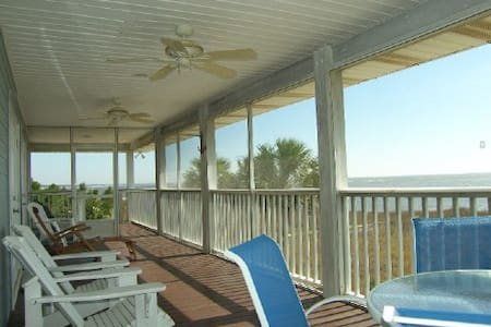 Sit Gulf Front On The Screen Porch At Indian Pass, Single Level Home ~ The Beach House