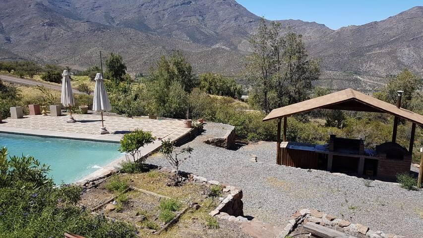 Cabaña Familiar en la montaña con imponente vista.