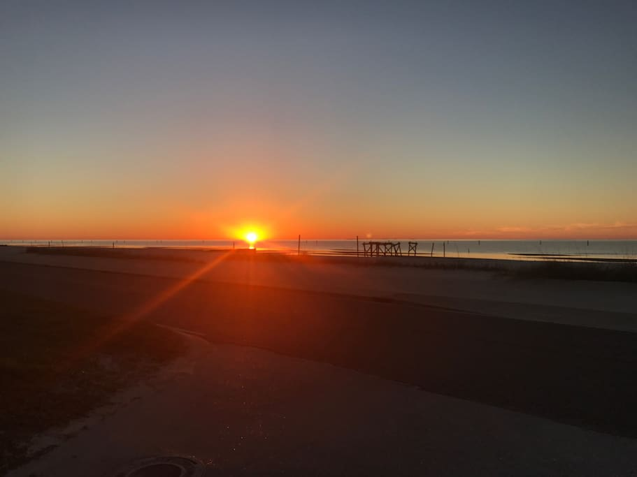 Y'all don't miss the sunrise! It is just one of the best parts of the Mississippi Gulf Coast. Set your alarm. Auto brew your coffee. And, get your hiney on the beach. You won't regret it!