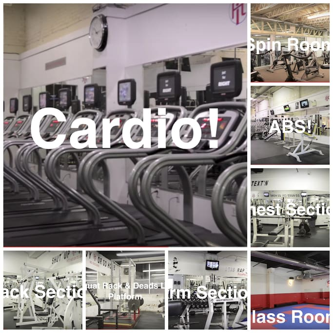 GYM in the neighborhood, hours Mon-Fri 5am - 10pm Sat, Sun 8am - 8pm.