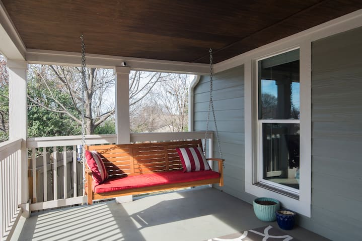 Enjoy the front porch swing!