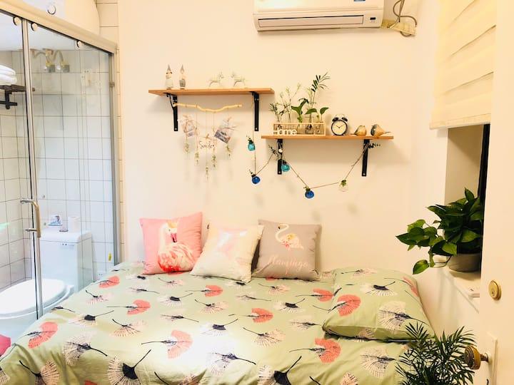 新天地区域独立精致小一房,屋内独立卫浴,带10平米晒台,地铁1、10号线直达