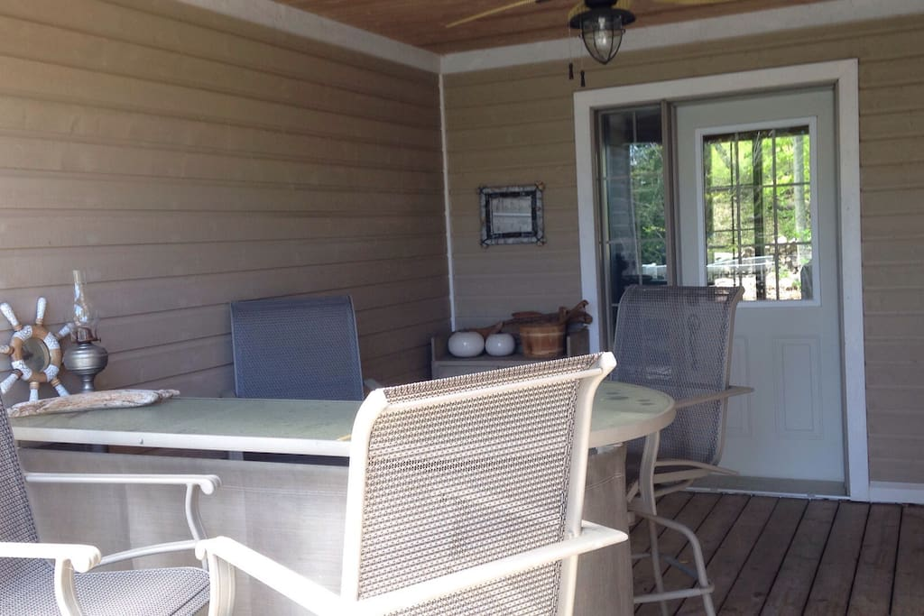 Covered porch for those rainy days