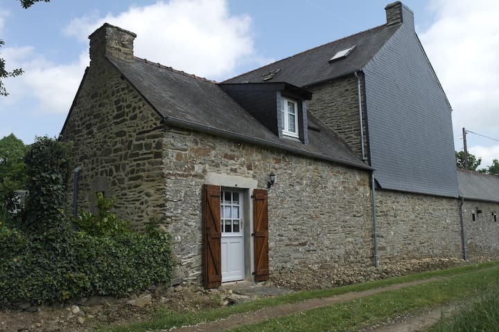 Traditional French cottage in Brittany