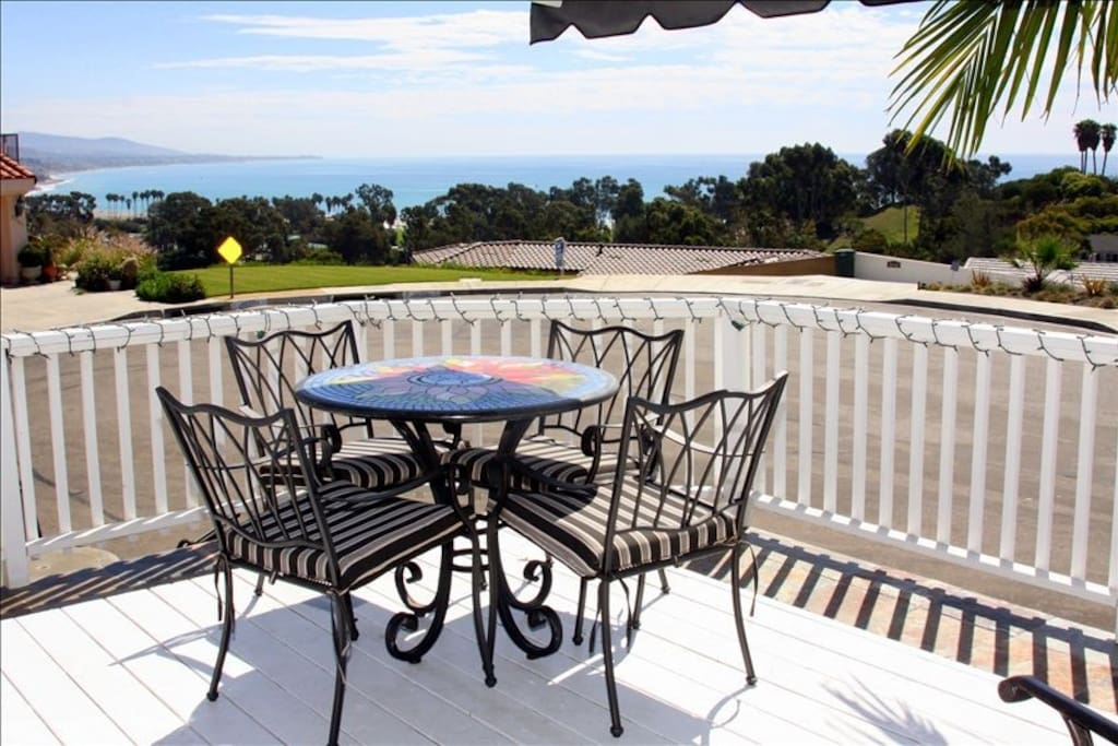 Covered Front Deck with White Water Ocean View