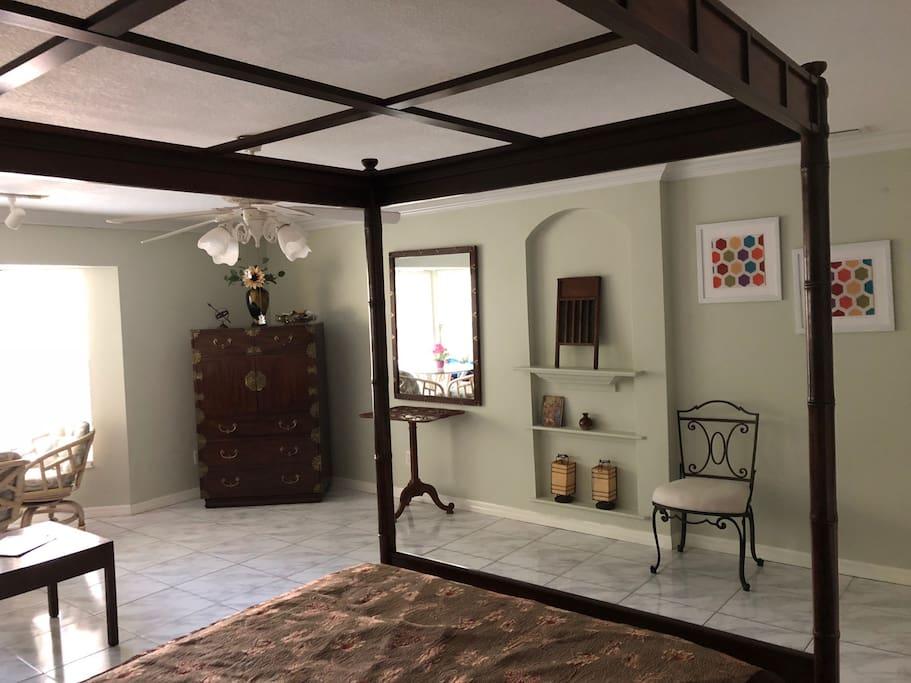 Roomy bedroom suite