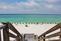 Enjoy 30A's beautiful emerald water and white sandy beaches