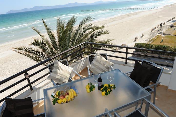 Ap.direct to the beach & sea view.b - แอลคูเดีย - อพาร์ทเมนท์