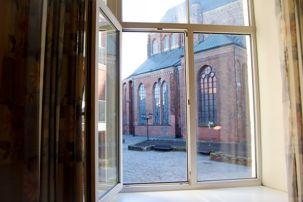 window view to St.Petry Church