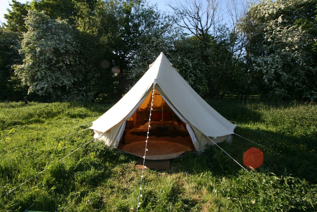 Bell Tent in the sunshine